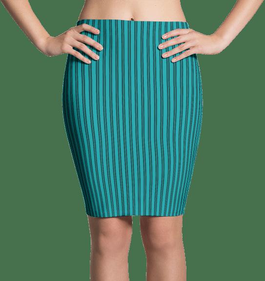 Turquoise Pinstripe Dress