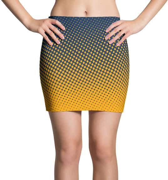 halftone-mini-skirt-gold-blue