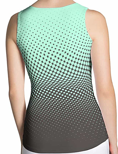 Halftone multicolored tank top - lime & brown