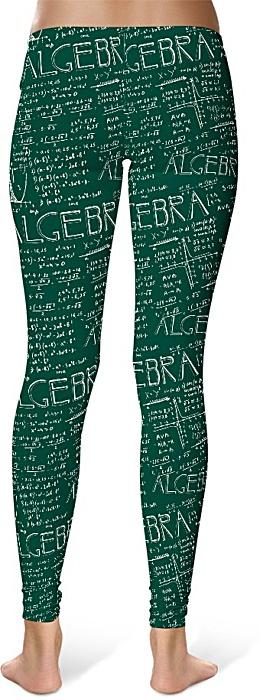 Chalkboard Algebra Math Leggings