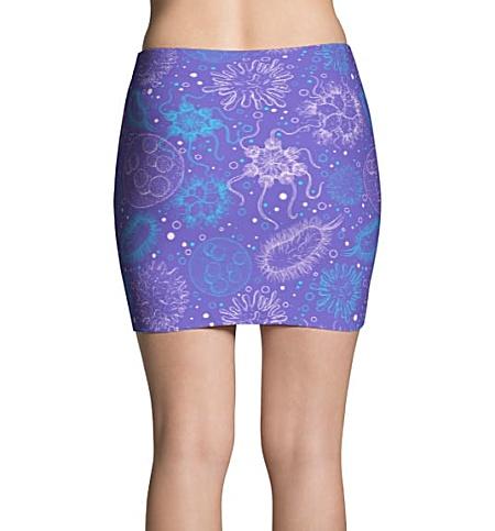 Science Microbiology Virus Mini Skirt Purple