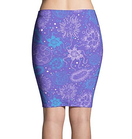 Science Microbiology Virus Pencil Skirt Purple
