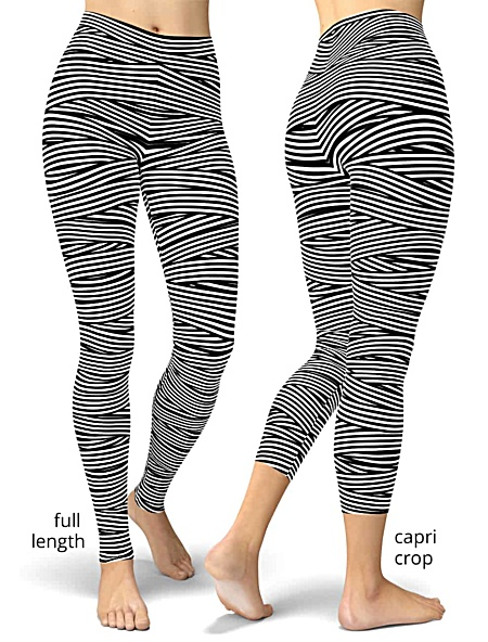 Spaghetti Bandage Stripped Leggings