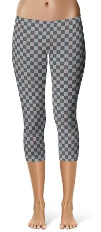 3d uv animation grid capri leggings