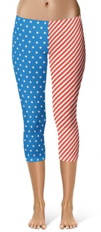 USA America Flag Leggings Fourth of July