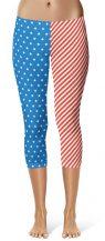USA America Flag Leggings Fourth of July