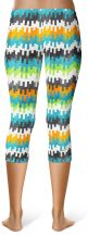 Color Pixel Capri Leggings