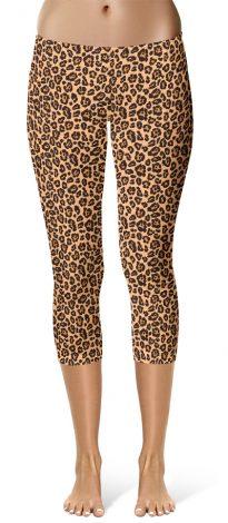 Capri Cropped Leopard Skin Leggings