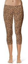 Capri Cropped Leopard Skin Leggings