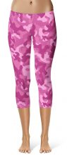 Pink camo camouflage Leggings Crop Leggings