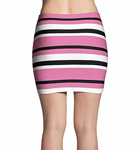 Thinning Mini Skirt - Horizontal Stripes