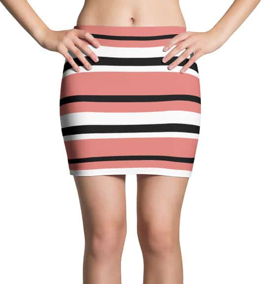 Thinning Mini Skirt - Horizontal Stripes