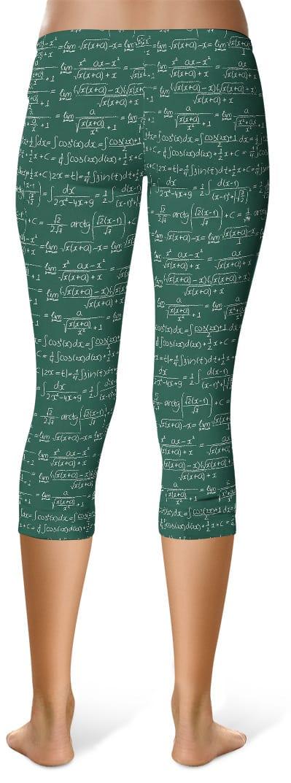 Trigonometry Math Leggings - Capri Crop