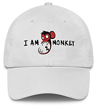 I am monkey - monkey baseball cap - twill hat
