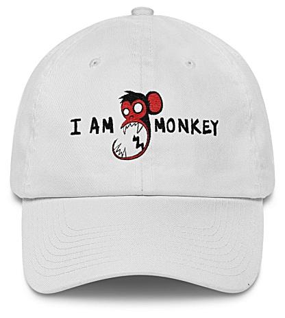 I am monkey - monkey baseball cap - twill hat