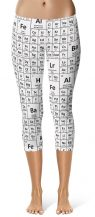 Periodic table chemical elements capri cropped leggings