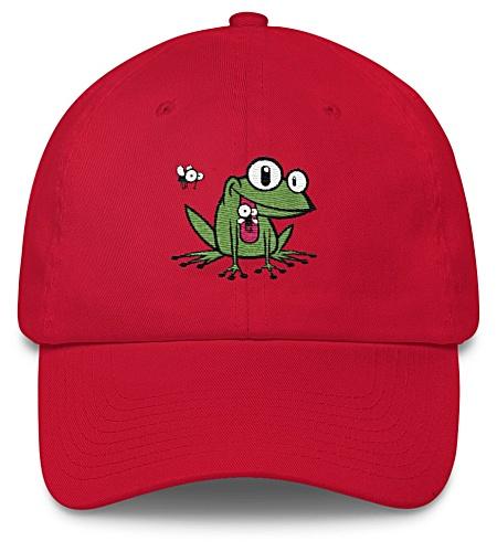 Green Frog Baseball Cap Twill Hat