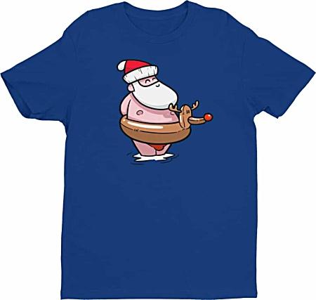 Summer Santa Clause at the Beach Christmas Tshirt - Men's Tee