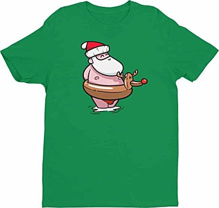 Summer Santa at the Beach Christmas Tshirt - Men's Tee