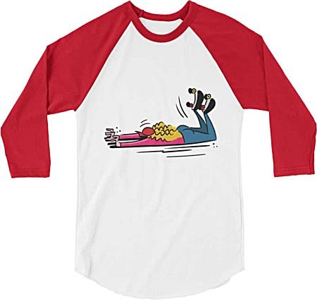 Roller Skates Tee - Roller Derby Tshirt - Roller Skating Tshirt - Baseball Regalan Tshirt