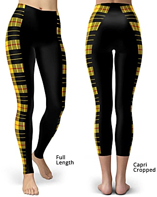 Plaid Tartan Stripped Slimming Leggings - Stripe Leggings - Full Length & Capri Length Legging
