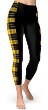 Plaid Tartan Stripped Slimming Leggings - Stripe Leggings - Project Runway