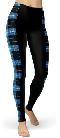 Plaid Tartan Stripped Slimming Leggings - Stripe Leggings
