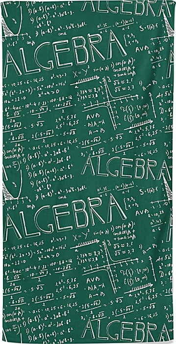 Algebra Math Beach Towel
