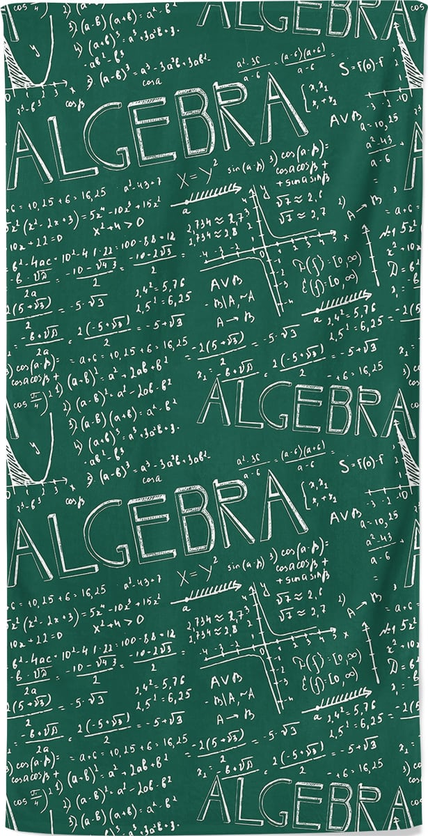 algebra-math-beach-towel