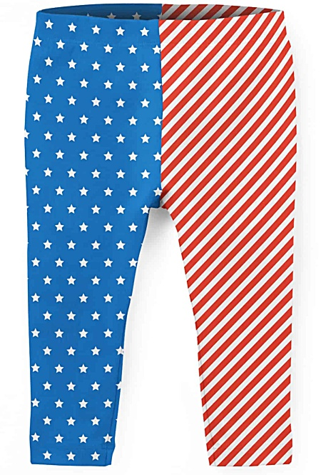 American Flag Fourth July 4th - Kids Leggings
