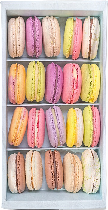 Box of macarons beach towel