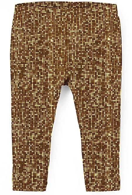 Gold leggings for kids
