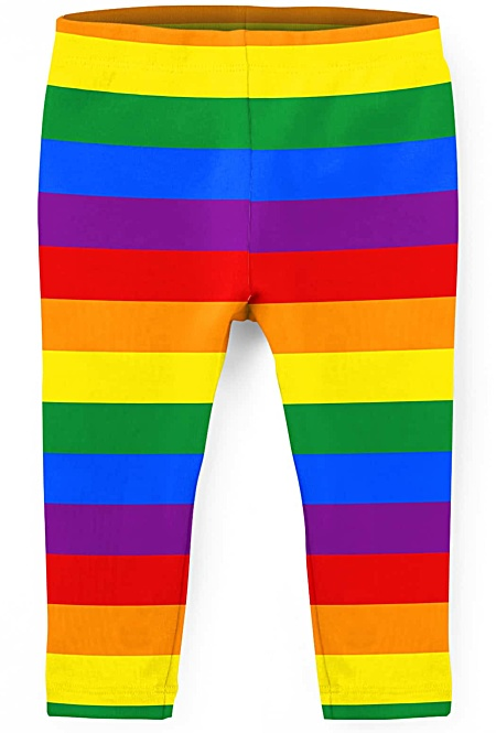 Gay Pride Flag Leggings for Children