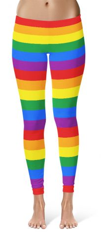 Gay flag leggings for gay pride parades