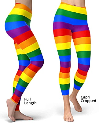 Gay flag leggings for gay pride parades