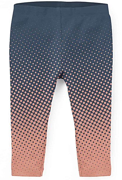 Colorful halftone leggings for kids