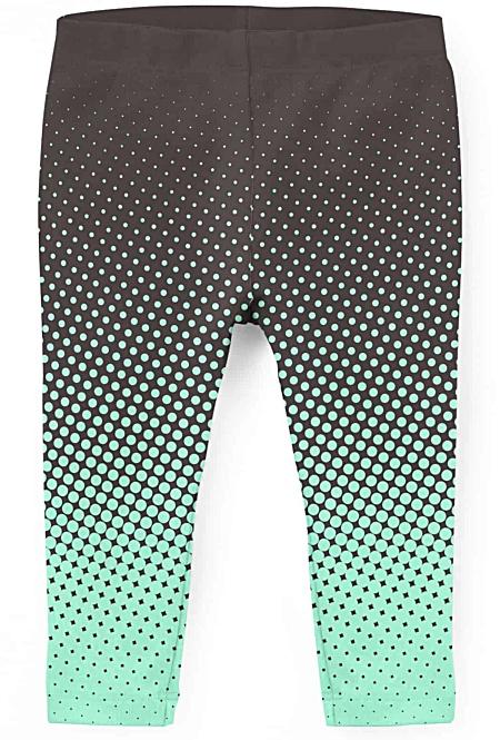 Colorful halftone leggings for kids