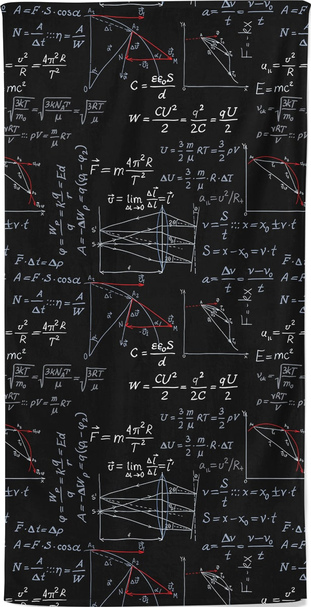 Maths Mathematics Physics Formula Beach Towel