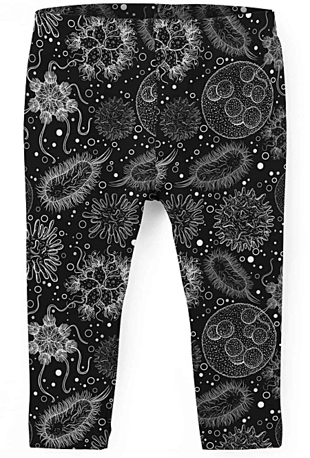 Virus under a microscope - Kids Leggings