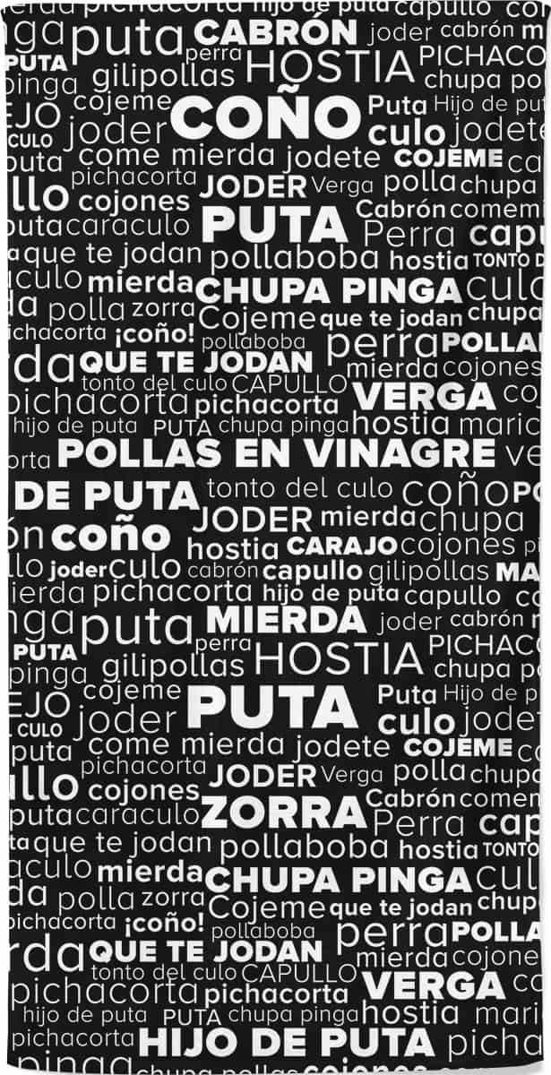 Spanish Rude Swear Words Beach Towel