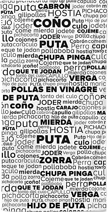 Spanish Rude Swear Words Beach Towel