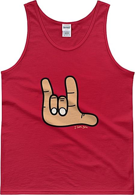 Sign Language Tank Top Tshirt - I love you Tee