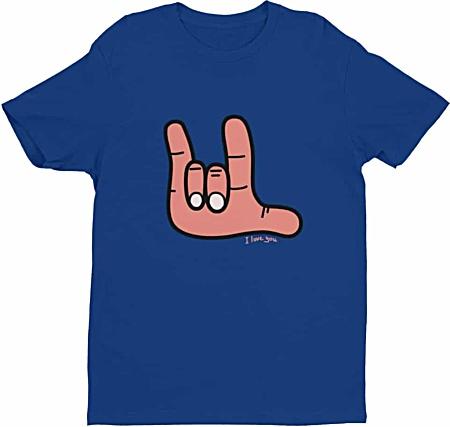 Sign Language Tshirt - I love you Tee