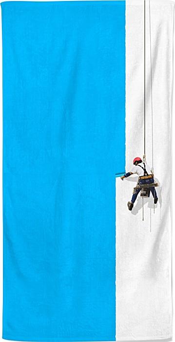 Steeplejack painter - creative design painting - beach towel