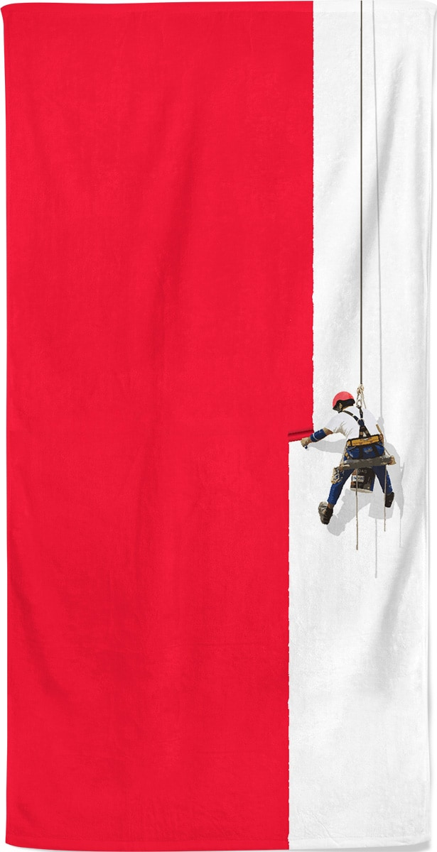 steeplejack-painter-beach-towel-red