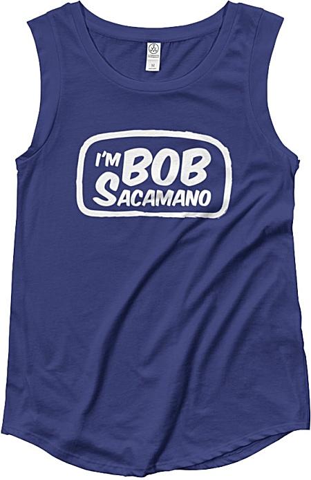 I'm Bob Sacamano Seinfeld sleeveless tshirt - womens muscle shirt