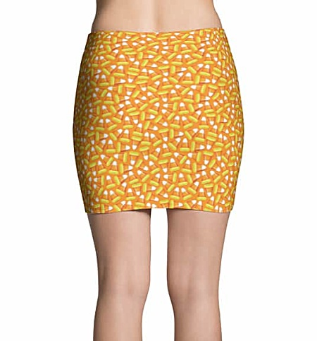 Halloween Candy Corn Mini Skirt