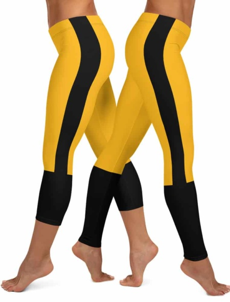 Pittsburgh Steeler Leggings - Pittsburgh Penguin Leggings - Pittsburgh Pirate Leggings NLF football game day tailgating black & gold