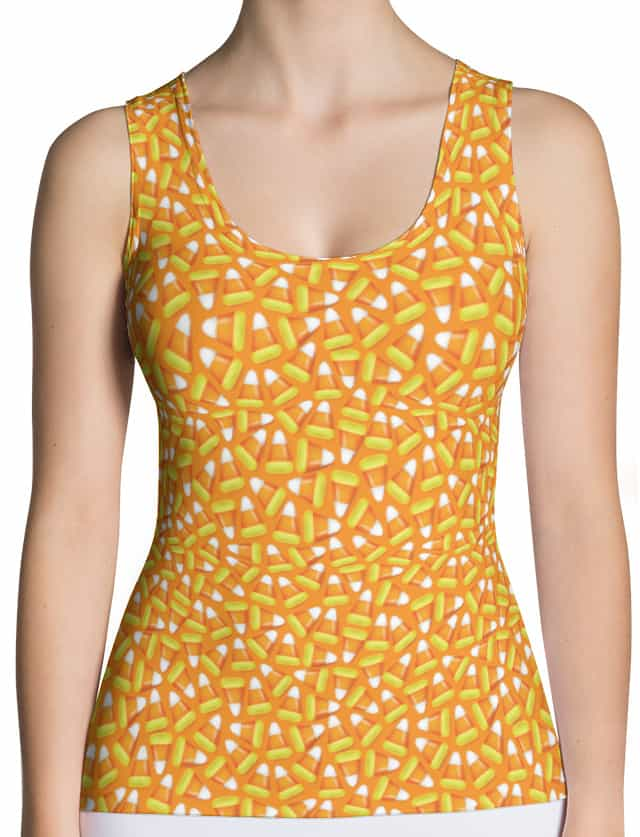 Candy Corn Cami Tank Top for Halloween Costumes