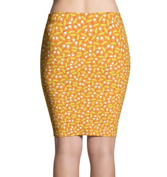 Halloween Candy Corn Pencil Skirt